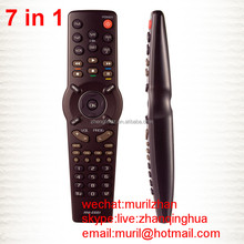 High Quality Brown 7 in1 RM- E661 learning combined Universal Remote Control for TV DVD Set-up Box with multi-functional chip