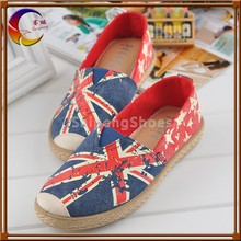 Printing can be changed flog printed no lace canvas shoes