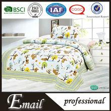 Hot Sale 100% Cotton high quality printed 2pcs home textile children bed quilt