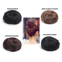 Fashion Women Straight Hairpiece Hair Bun Colorful