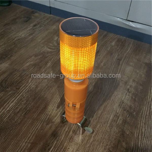 solar yellow warning light