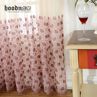 Hood Brand embroidery curtain for window