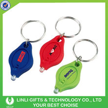 Portable Brand Logo Promotion Keychain Led Gift
