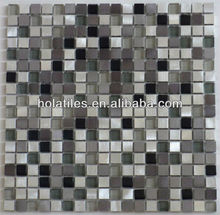 Low price guaranteed quality stainless steel blend glass mosaic tiles