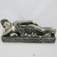 Polyresin handmade recling buddha for indoor decoration