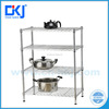 HKJ-B011 high quality 4tiers wire closet systems shelving rack