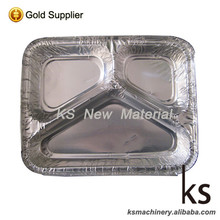 Portable Rectangular Aluminum Foil Fast Food Storage Container + Board Lid