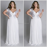 Famous Designer Gorgeous A-line Sheer Top Crystal Beaded Lace up Wedding Dresses For Big Women(WD240)