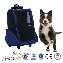 [Grace Pet] Travel Carrier Dog Backpack With Rolling Casters