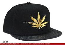 leaf alloy leather snapback hip hop hat caps SB-79
