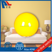 CE Approved Glass Table Lamp with Ball Shade