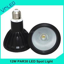 12W fast selling cheap products Black Housing Color E27 COB PAR30 Led Spot Light