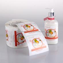 Frasco de xampu impressão de etiquetas, Etiqueta adesiva para frasco de xampu