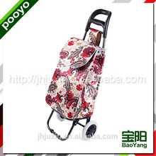 two wheel shopping cart polyester waterproof tote bag