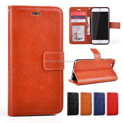 Wholesale Vintage Wallet Leather Case Flip Magnetic Stand Cover Case for iPhone 5S