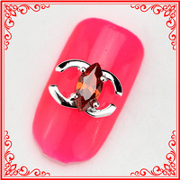 RG016 Red Zircon Stone Rhinestone Charm Phone Tips Brand Design Nail Art Alloy Decoration