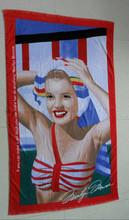 Microfiber color Thermal transfer printing beach towel -Peace Sign
