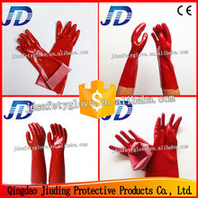 JD Great China Factory supply PVC coated glove, finger protection work gloves