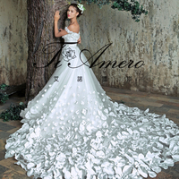 TH7143J Real sample Wedding dresses 2015 new arrival white princess dresses wedding gown