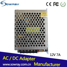 Waterproof led power supply 12v 7a 110v/220v dc switching power supply 12V SMPS adapter for led strip light Power supply