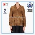 nuevo diseño de la borla de cuero de gamuza gitana trajes de chaqueta para las mujeres