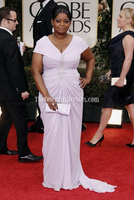 Celebrity Inspired Octavia Spencer 2012 Golden Globe Awards Cap Sleeve Plus Size Women Clothing