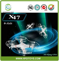Newest drone camera rc flying toys UFO, 2.4G 6 axis 4CH rc quadcopter intruder ufo