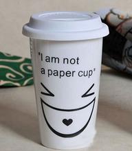 Haonai hot sale high quality ceramic travel mug with lid