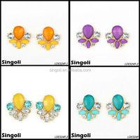 Multi color evening party stud Earrings Chandelier Earrings