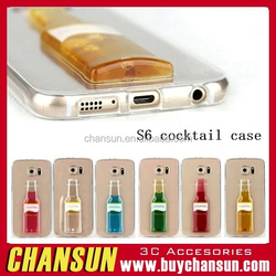 factory price have in stock cocktail tpu case for samsung galaxy s6