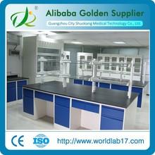 Nice design lab aluminum wood wall table island table
