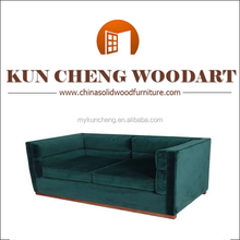 Luxury hand carved furniture wooden wedding sofa/Popular Design Leather Sofa
