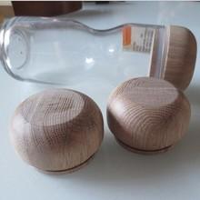 wooden bottle lid 64*38mm wood cover for storage jar