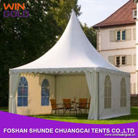 2015 commercial wholesale 3x3m High Peak Marquee Portable Square Drop Ceiling Chinese Pagoda Tent for Outdoor Wedding