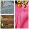 100 polyester dyeing and printing whiten ivory polar fleece velvet fabric for garment sleepwear