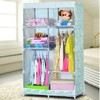 FS 2 tiers wardrobes solid bedroom closets toys storage cabinets