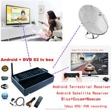 High Decryption Factory HD Android STB MPEG4 PVR EPG Amlogic dual core DVB T2 Android dvb-t2