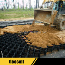 HDPE Cellular Geocell Gravel Grid for Road Construction,Load Support