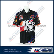 Men's polyester motrocycle racing shirts professional manufacturer