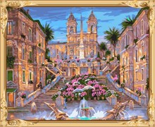 city landscape canvas oil painting by numbers for home decor GX7302