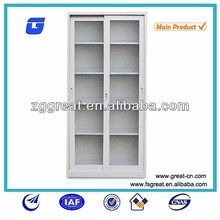 file cabinet with sliding glass door