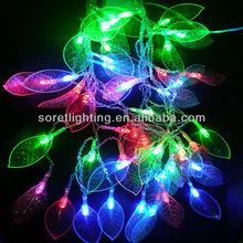 led decorative twinkle leaf light string