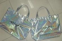 laser colorful bright bag non woven shopping