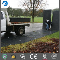 HDPE construction road mats / large plastic floor mats