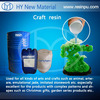 Liquid unsaturated polyester resin for craft making