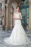 Sale Fishtail Transparent Tulle Mermaid Court Train Spaghetti Strap Sleeveless High Quality Tulle Layers Bride Wedding Dresses