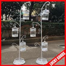 wholesale personized cream white decorative bird cage for wedding or event decoration