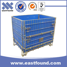 Warehouse pet preform folding storage wire steel basket cage