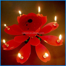 hot sale birthday candle flaming flower