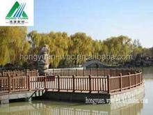 HongYuan Low-Maintenance wood plastic composite Garden Fence